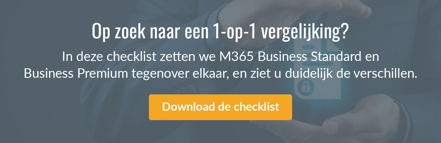 Checklist O365 vs. M365 Business